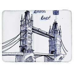 Lovely London Baby  Samsung Galaxy Tab 7  P1000 Flip Case by Brittlevirginclothing