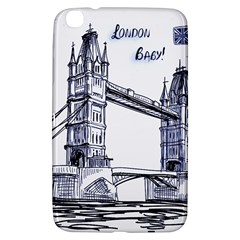 Lovely London Baby  Samsung Galaxy Tab 3 (8 ) T3100 Hardshell Case  by Brittlevirginclothing