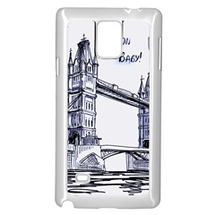 Lovely London Baby  Samsung Galaxy Note 4 Case (white)