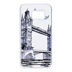 Lovely London Baby  Samsung Galaxy S7 White Seamless Case by Brittlevirginclothing