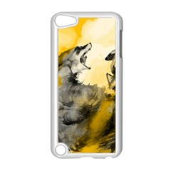 Wild Wolf Apple Ipod Touch 5 Case (white) by Brittlevirginclothing
