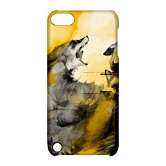 Wild Wolf Apple Ipod Touch 5 Hardshell Case With Stand by Brittlevirginclothing