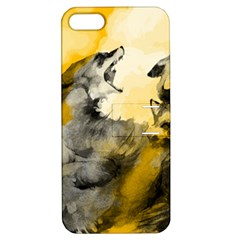 Wild Wolf Apple Iphone 5 Hardshell Case With Stand by Brittlevirginclothing