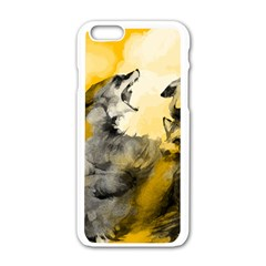 Wild Wolf Apple Iphone 6/6s White Enamel Case by Brittlevirginclothing