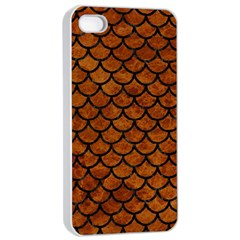 Scales1 Black Marble & Brown Marble (r) Apple Iphone 4/4s Seamless Case (white) by trendistuff