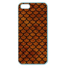 Scales1 Black Marble & Brown Marble (r) Apple Seamless Iphone 5 Case (color) by trendistuff