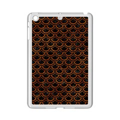 Scales2 Black Marble & Brown Marble Apple Ipad Mini 2 Case (white) by trendistuff