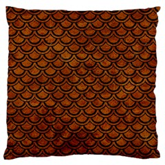 Scales2 Black Marble & Brown Marble (r) Large Flano Cushion Case (two Sides) by trendistuff