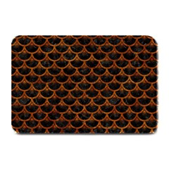 Scales3 Black Marble & Brown Marble Plate Mat by trendistuff