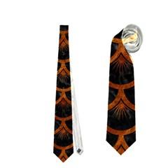 Scales3 Black Marble & Brown Marble Necktie (two Side) by trendistuff