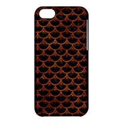 Scales3 Black Marble & Brown Marble Apple Iphone 5c Hardshell Case by trendistuff