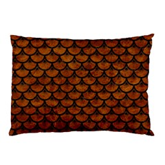 Scales3 Black Marble & Brown Marble (r) Pillow Case (two Sides) by trendistuff