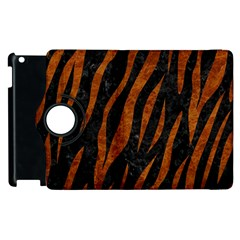 Skin3 Black Marble & Brown Marble Apple Ipad 2 Flip 360 Case by trendistuff