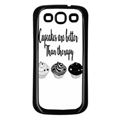 Cupcakes  Samsung Galaxy S3 Back Case (black) by Brittlevirginclothing