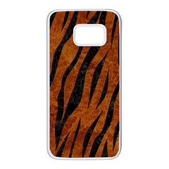 Skin3 Black Marble & Brown Marble (r) Samsung Galaxy S7 White Seamless Case