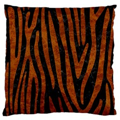 Skin4 Black Marble & Brown Marble (r) Standard Flano Cushion Case (two Sides) by trendistuff