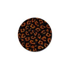 Skin5 Black Marble & Brown Marble (r) Golf Ball Marker (4 Pack) by trendistuff