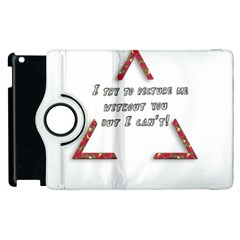 You Without Me  Apple Ipad 3/4 Flip 360 Case by Brittlevirginclothing