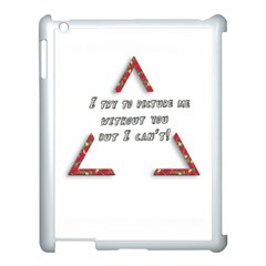 You Without Me  Apple Ipad 3/4 Case (white) by Brittlevirginclothing