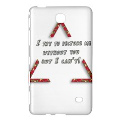 You Without Me  Samsung Galaxy Tab 4 (8 ) Hardshell Case  by Brittlevirginclothing