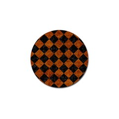 Square2 Black Marble & Brown Marble Golf Ball Marker (4 Pack) by trendistuff
