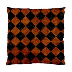 Square2 Black Marble & Brown Marble Standard Cushion Case (one Side) by trendistuff