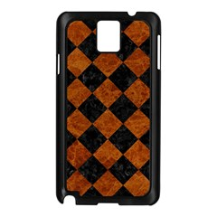 Square2 Black Marble & Brown Marble Samsung Galaxy Note 3 N9005 Case (black) by trendistuff