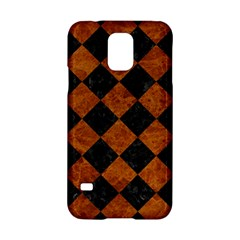 Square2 Black Marble & Brown Marble Samsung Galaxy S5 Hardshell Case  by trendistuff