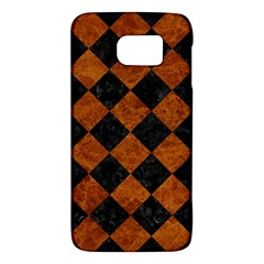 Square2 Black Marble & Brown Marble Samsung Galaxy S6 Hardshell Case  by trendistuff