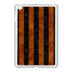 Stripes1 Black Marble & Brown Marble Apple Ipad Mini Case (white) by trendistuff