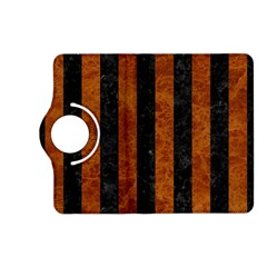 Stripes1 Black Marble & Brown Marble Kindle Fire Hd (2013) Flip 360 Case by trendistuff