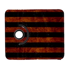 Stripes2 Black Marble & Brown Marble Samsung Galaxy S  Iii Flip 360 Case by trendistuff
