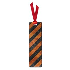 Stripes3 Black Marble & Brown Marble Small Book Mark by trendistuff
