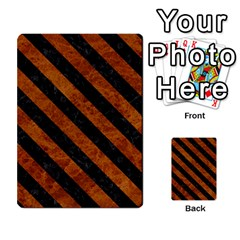Stripes3 Black Marble & Brown Marble (r) Multi Purpose Cards (rectangle)