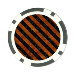 Stripes3 Black Marble & Brown Marble (r) Poker Chip Card Guard (10 Pack) by trendistuff