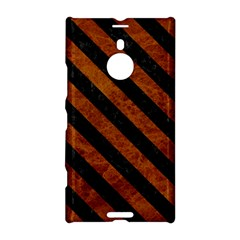 Stripes3 Black Marble & Brown Marble (r) Nokia Lumia 1520 Hardshell Case by trendistuff
