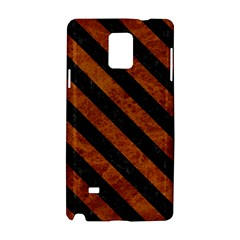 Stripes3 Black Marble & Brown Marble (r) Samsung Galaxy Note 4 Hardshell Case by trendistuff