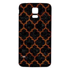 Tile1 Black Marble & Brown Marble Samsung Galaxy S5 Back Case (white) by trendistuff