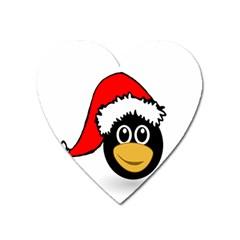 Christmas Animal Clip Art Heart Magnet by Onesevenart