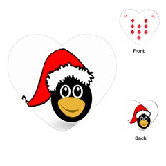 Christmas Animal Clip Art Playing Cards (heart)  by Onesevenart