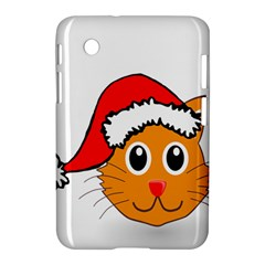 Cat Christmas Cartoon Clip Art Samsung Galaxy Tab 2 (7 ) P3100 Hardshell Case  by Onesevenart