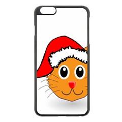 Cat Christmas Cartoon Clip Art Apple Iphone 6 Plus/6s Plus Black Enamel Case by Onesevenart
