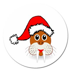 Child Of Artemis Christmas Animal Clipart Magnet 5  (round)