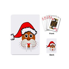 Child Of Artemis Christmas Animal Clipart Playing Cards (mini)  by Onesevenart