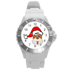 Child Of Artemis Christmas Animal Clipart Round Plastic Sport Watch (l) by Onesevenart