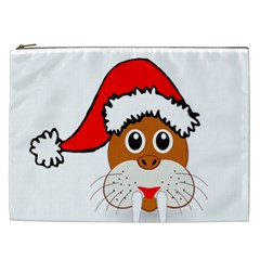 Child Of Artemis Christmas Animal Clipart Cosmetic Bag (xxl)  by Onesevenart