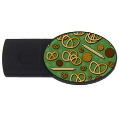 Bakery 4 Usb Flash Drive Oval (4 Gb)  by Valentinaart