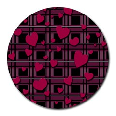 Harts Pattern Round Mousepads by Valentinaart