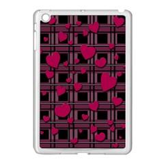 Harts Pattern Apple Ipad Mini Case (white) by Valentinaart