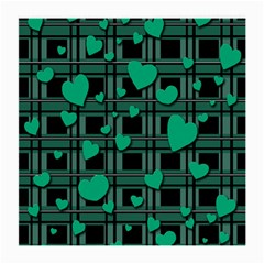 Green Love Medium Glasses Cloth by Valentinaart